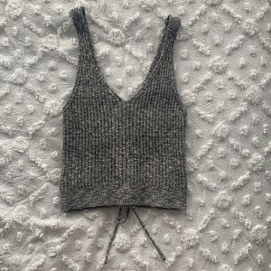 Boutique grey knitted top